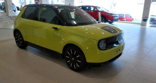 El nuevo Honda e en las instalaciones de Honda Cotri en Málaga.